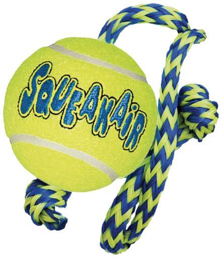 kong-airdog-squeakairr-tennis-ball-with-rope-m-l