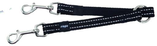 rogz-snake-leash-medium-black