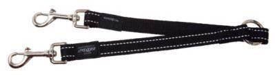 rogz-fanbelt-double-leash-size-l-black