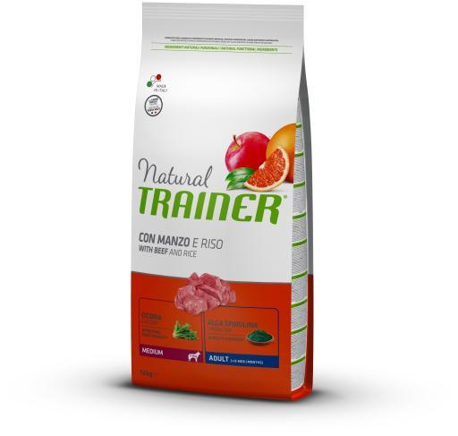 Nourriture Naturelle Adult Medium Veau 12 KG Trainer