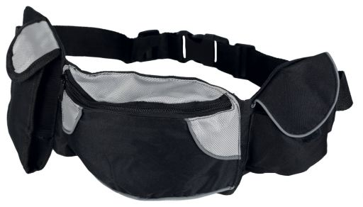 trixie-ceinture-sac-nylon-extra-62-125cm-noire-grise