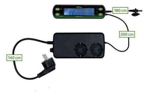 Thermostat, Digital, Deux Circuits 16x4 cm Trixie