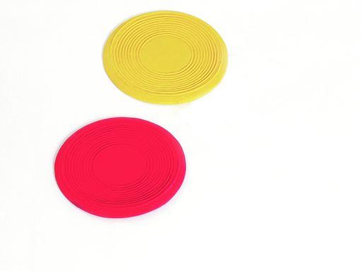 Latex Frisbee Peewee, Rouge/Jaune 10-15 cm Karlie Flamingo