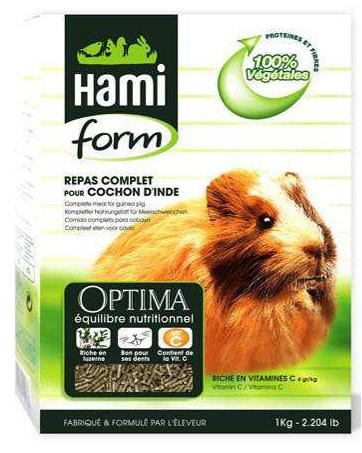 Aliment complet pour Cobaya 1 Kg Hami Form