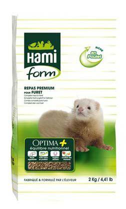 Optima prime Aliment complet pour Furets. 2 KG Hami Form