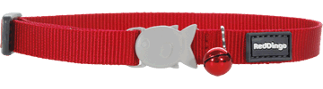 Collier Chat Uni Rouge Rouge Red Dingo