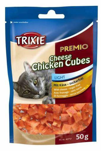 2x50 GR Trixie Premio Cheese Chicken Cubes, Poulet avec fromage