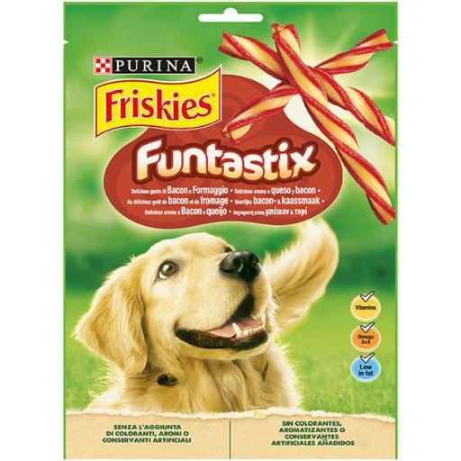 6x175 GR Friskies Snacks Funtastix Friandise Fromage et Bacon