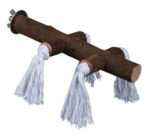 trixie-perchoir-en-bois-avec-cordes-25cm