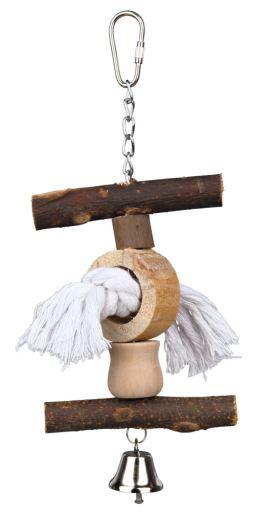 trixie-jouet-natural-living-grelot-corde-20-cm