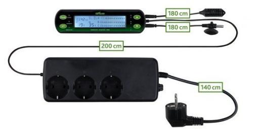 Thermostat/Hygrostat, Digital, Deux Circuits Trixie