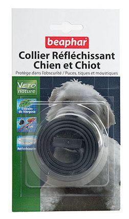 Collier Chien Réfléchissant Noir Margousier 50 cm Beaphar