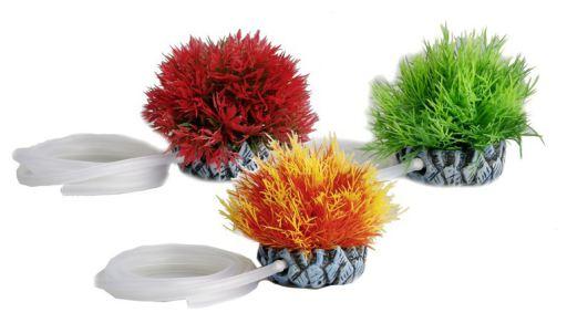 Aquarium Plants With Air Outlet, Assort. Plastic