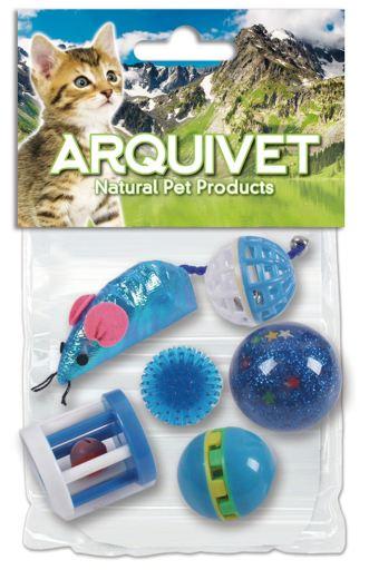 Kit 6 Jouets pour Chats Bleu Arquivet