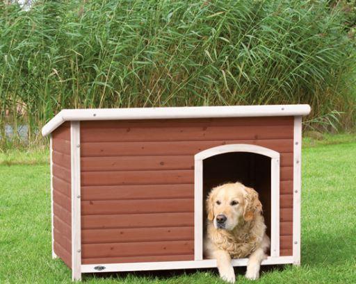 Dog Kennel Natura rossastro-White