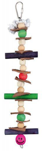 trixie-jouet-natural-avec-cuir-et-perles-28-cm