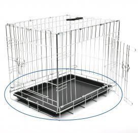 Plastique métallisé Base de Dog Cage 92 cm Duvo+