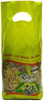Foin de Fétuque avec Pissenlit pour Rongeurs 500 GR Ribero
