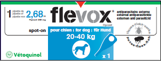 Flevox Chien 20-40 kg 1 Pipettes Vétoquinol
