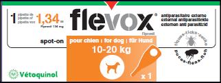 Flevox Chien 10-20 kg 1 Pipettes Vétoquinol
