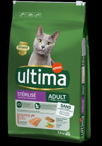 Nourriture Sterilized Saumon et Orge 7.5 KG Ultima