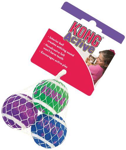 Kong Cat Tennis Balls avec Grelot 4 cm KONG