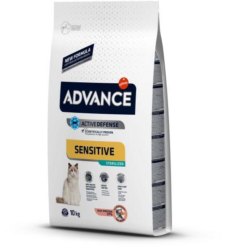 Nourriture Sterilized Sensitive Saumon et Orge 10 KG Advance
