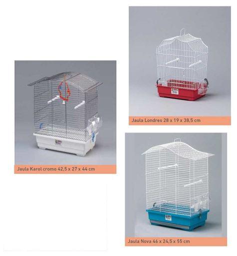 Lot de 3 cages à oiseaux (Londres-Karol-Nova) 3 Yagu