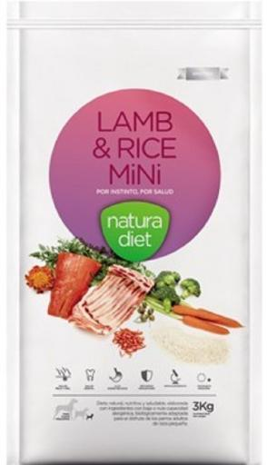 Natura Diet Lamb & Rice Mini 3 Kg Natura Diet