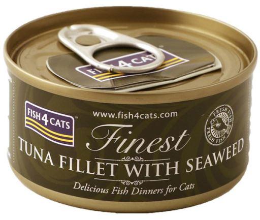 Boîte Filet de Thon avec Algues Marines 70 70 GR Fish4Cat