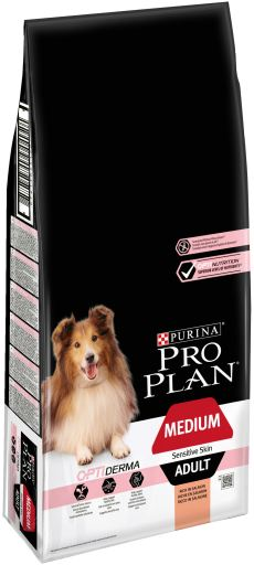 Optiderma per Adulte Saumon Medium 14 + 2.5 kg Pro Plan