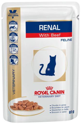 Rénal Feline avec Veau 12x85 gr Royal Canin