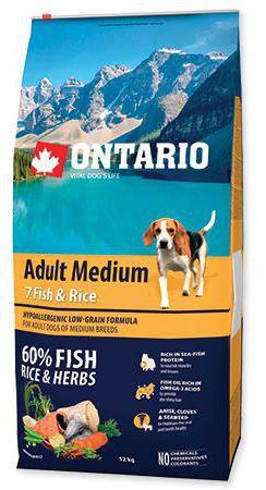 Adult Medium Poisson et Riz 750 GR Ontario