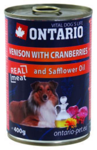 Dog Venison/Cranberries/Safflower Oil 400 GR Ontario