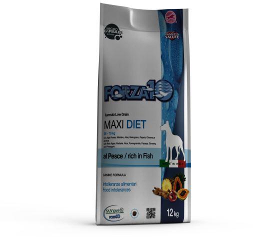 Chiens Adultes de Taille grande Maxi Diet Poisson 12 KG Forza10