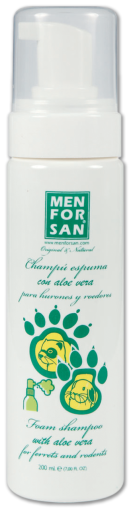 Shampoing en Mousse pour Rongeurs 200 ml 200 ml Men For San