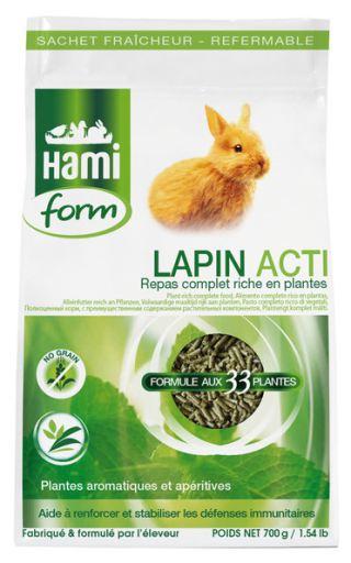 Nourriture Complète pour Lapins - Acti 700G 700 GR Hami Form