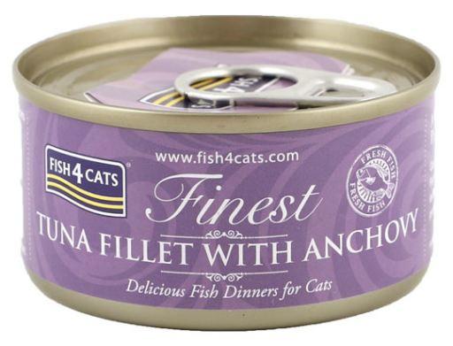 Boîte Filet de Thon avec Anchois 70 GR Fish4Cat