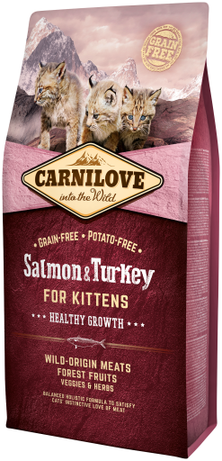 Nourriture Naturelle Chats Kitten Healthy Growth Saumon et Dinde 6