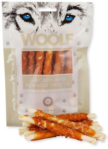 Snacks Petits Rouleaux de Poulet 100 gr Woolf