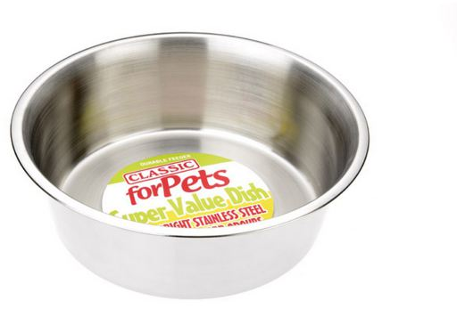 Classic Value Stainless Steel Dish 950 ml Classic For Pets