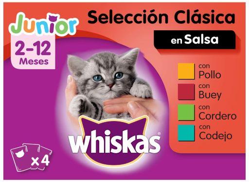Comida Húmeda para Gatos Junior Multipack Selección Carnes en Gelatina