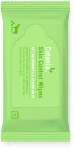 Cutania Skin Control Wipes 24 Couches VetNova