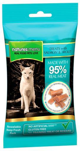 Cat Treats Saumon & Truite 60 Grs 0.06 Kg Natures Menu