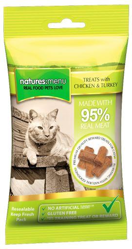 Cat Treats Poulet & Dinde 60 Grs 0.06 Kg Natures Menu