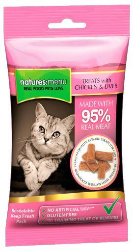 Cat Treats Poulet & Foie 60 gr 0.06 Kg Natures Menu