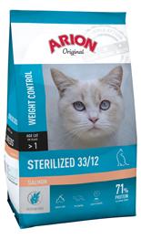 Nourriture pour Chats Original Sterilized 33/12 Saumon 7.5 KG Arion