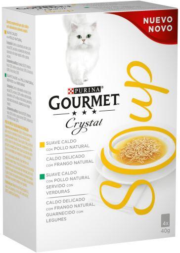 Crystal Soup Poulet Naturel 4x40 gr Gourmet