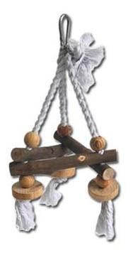 Nayeco Jouet Pour Oiseaux Natural Swing Corde Et Bois Petit 100 Gr