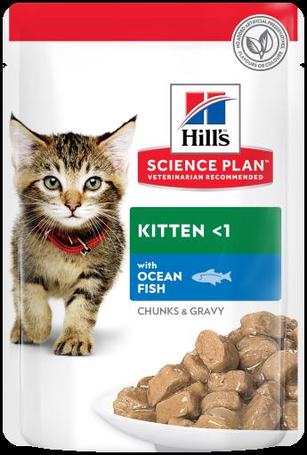 12x85 gr Hill's Feline Kitten Poisson Bleu